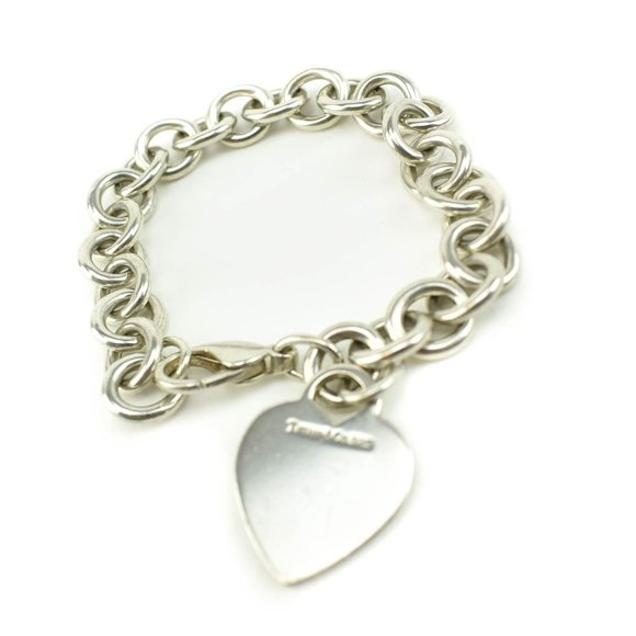 TIFFANY & CO Sterling Silver Heart Tag Bracelet nr